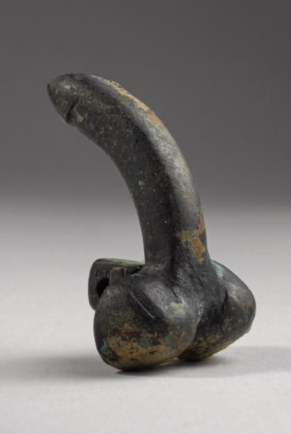 Roman Bronze Clasp of a Belt Buckle in the form of a Phallus | 1st Century AD, 2nd Century AD | Price $800.00 | Roman | Bronze | Jewelry | eTiquities by Phoenix Ancient Art
