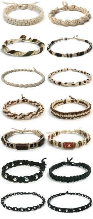 en-rHed-ando: Como hacer Bisuteria de Cañamo Tutoriales <- Whatever that might say. Different types of macrame bracelets..ro