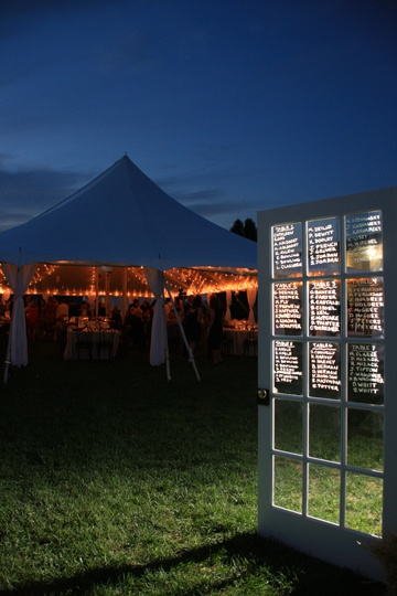 Tent lighting ~ Wedding Details Breaux Vineyard