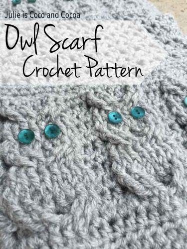 """Crochet Owl Scarf Homesteading  - The Homestead Survival .Com     """"Please Share This Pin"""""""