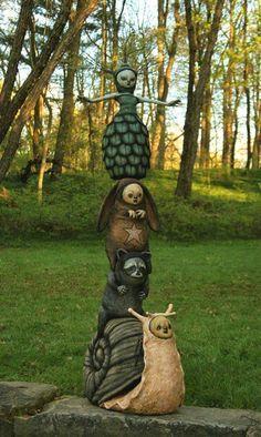 Les 25 meilleures idées de la catégorie Totems de jardin sur ...