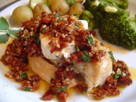 Carrabba's Chicken Bryan recipe - The goat cheese makes this whole thing come together.