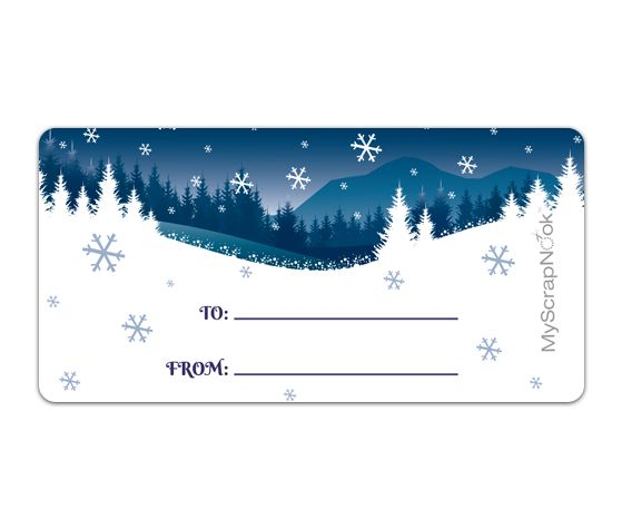 Download this Winter Wonderland Shipping Label and other free printables from MyScrapNook.com