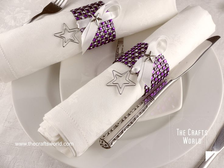 Napkin rings sparkle this year by using some rhinestone mesh to make them. Change the decorations used to have these rings all year around. All materials can be found in Buddly Crafts shop  Materials used JeJe A4 Transparent Acetate Sheets – 5pcs Buddly Crafts 120mm Faux Rhinestone Mesh – 45cm Purple & Silver Knorr …