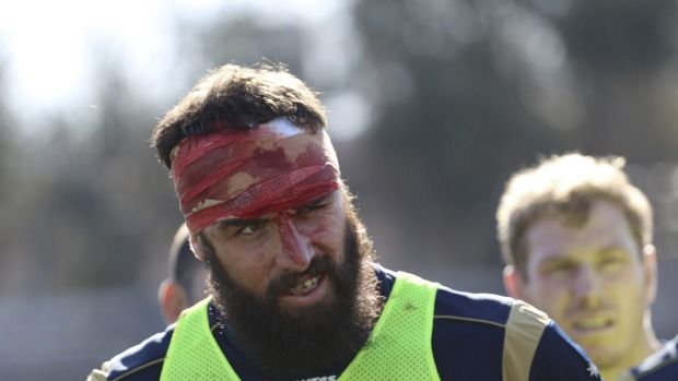 Training daze: Scott Fardy after a tough Wallabies hitout in Mendoza.