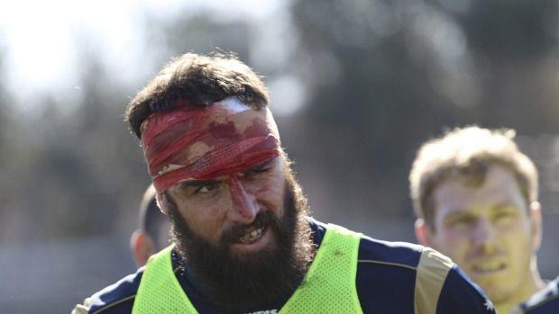 Training daze: Scott Fardy after a tough Wallabies hitout in Mendoza.