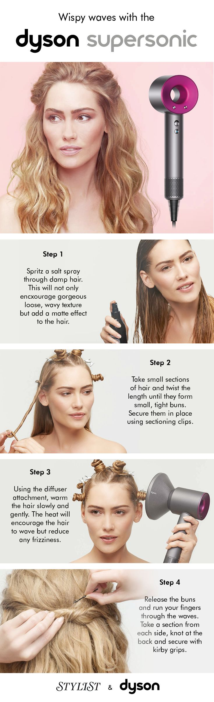 There's nothing wrong with a messy top-knot but sometimes an occasion requires a proper 'do. Luckily, these three styles created using the Dyson Supersonic™ hair dryer are simple but striking – master them and you'll be ready for anything. #dysonsupersonic #stylistmagazine #hairstyle #hairtips