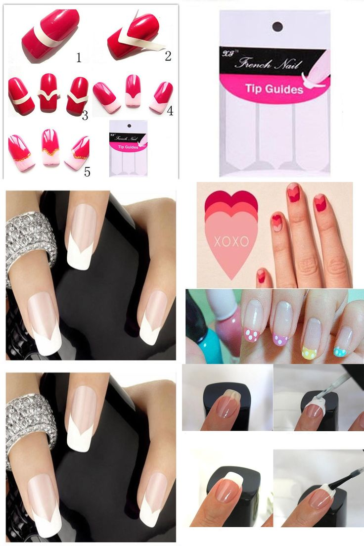 [Visit to Buy] 48Pcs Nail Art Stickers Manicure Stencil For Nails Art Design DIY French Nail Tips Guide Design Tools Nagel Stickers Transfer #Advertisement