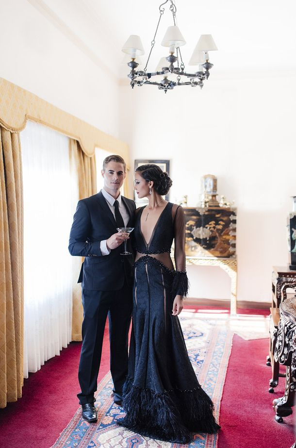 James Bond wedding inspiration - concept and flowers by Green Goddess flower studio and Debbie Lourens Photography