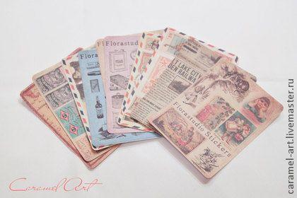 набор наклеек - бумага для скрапбукинга,бумага для открыток,бумага для альбомов