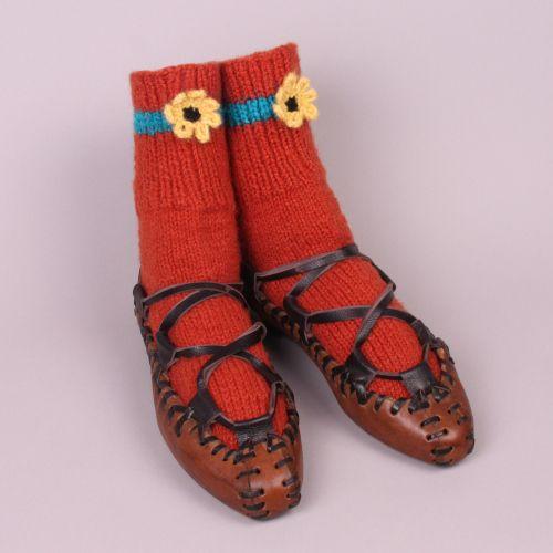 OPINCI- Romanian folk shoes with modern socks