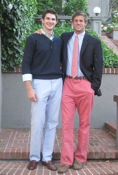 guy on the right.   you're exactly my type.   do you play golf?   because if the answer is yes - you're perfect.: Colored Pants, Coral Pants, Preppy Boys, Pink Pants, Southern Prep, Real Guys, Boys Boys