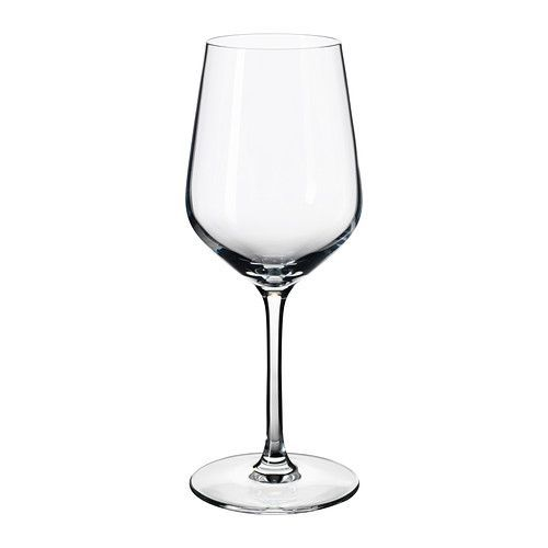 IKEA - IVRIG, White wine glass, The glass has an elongated bowl which keeps the wine cool and makes the aromas more distinct, enhancing your experience of the drink.
