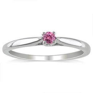0.20 Karat Pink Solitär Diamantring 585er Gold (Weiß,Gelb,Rosé) Erhältlich bei www.juwelierhausabt.de