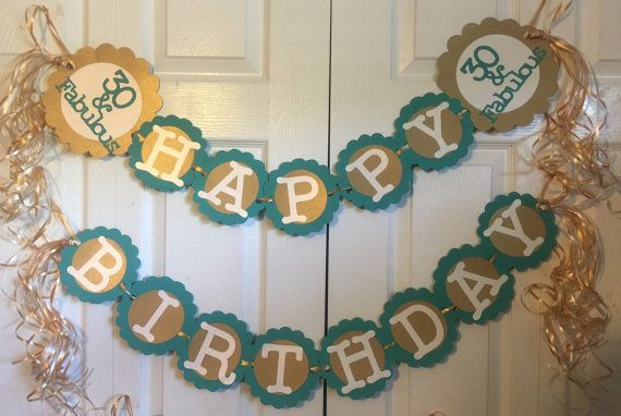 This is a super fun banner that can be put together in colors of your choice to celebrate a Big Birthday or Anniversary. Created in custom colors just for you. Please include the following on checkout. Anchor Saying: 75 & fabulous Scallop Color: Circle Color: Letter Color: Preferred Ribbon Color (Up to 2): Orientation: Single or Double Hang as Shown Party Number: 30th, 40th, 50th Anchor scallop color: Anchor circle color : Anchor font color: This item can also be persona...