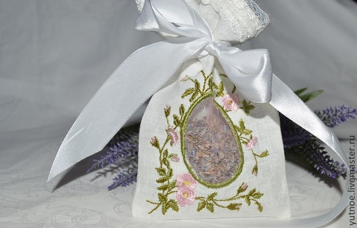 Купить Саше с Лавандой - белый, купить саше, саше с лавандой, мешочек с лавандой, саше ароматическое