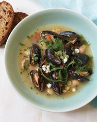 Fragrant Gigante Beans with Garlic Confit and Mussels: Mussels Recipes, Fragrant Gigant, Mussels Food, Fish Tanks, French Fries, Garlic Confit, Chef Michael, Fiber Rich Beans, Gigant Beans