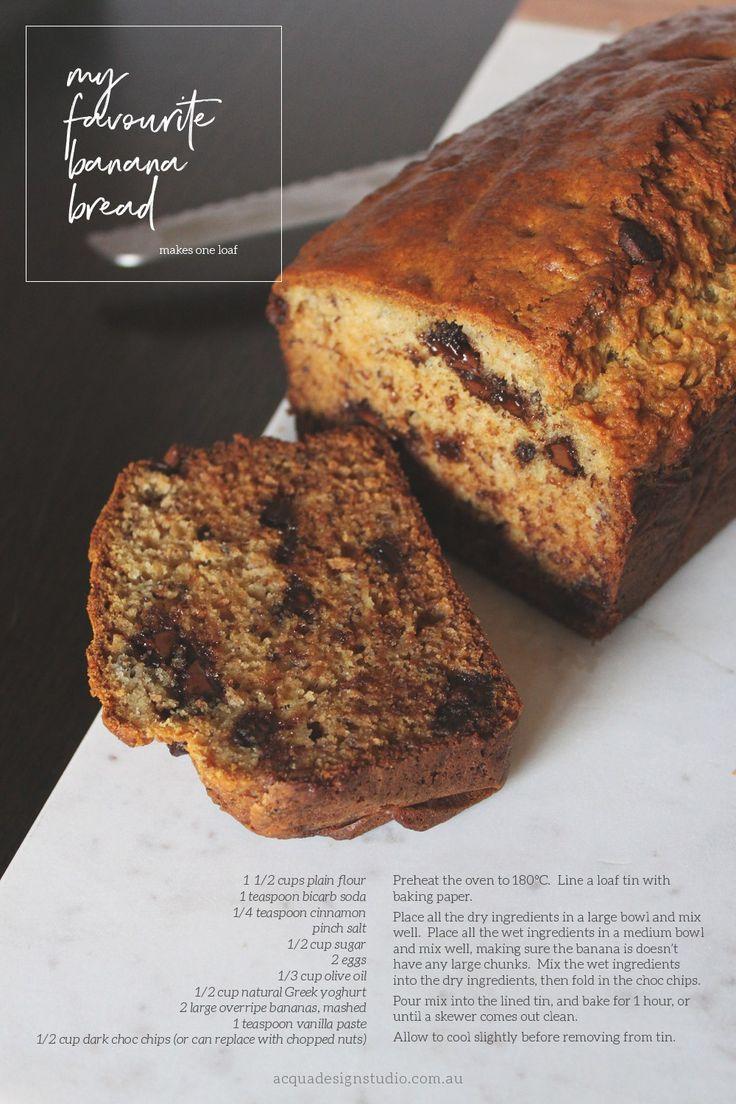 My Favourite Banana Bread | Recipe | Acqua Design Studio