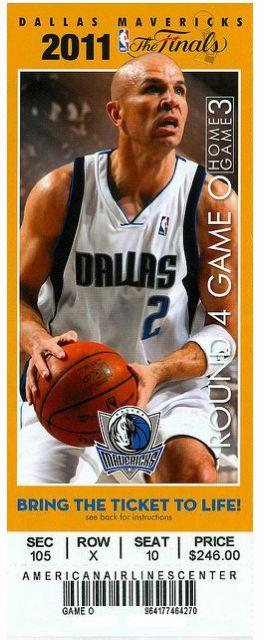 2011 NBA Finals Dallas vs. Miami Game 6 stub