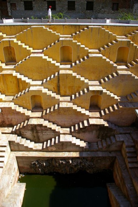 Panna Mian Ka Kupa in India, love the stairs!!