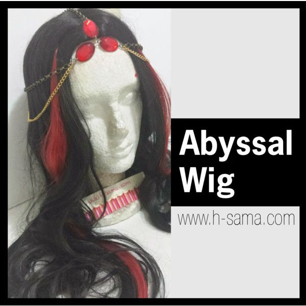 Abyssal cosplay Tiefling wig for LARPing #LARP by hsama on Polyvore