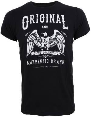 Ανδρικό μπλουζάκι με κοντά μανίκια και στάμπα ORIGINAL AND AUTHENDIC BRAND. Κλασσική λαιμόκοψη , απαλή υφή ,slim fit. Σύνθεση 100% βαμβακερό.  Τιμή: 25.90 €