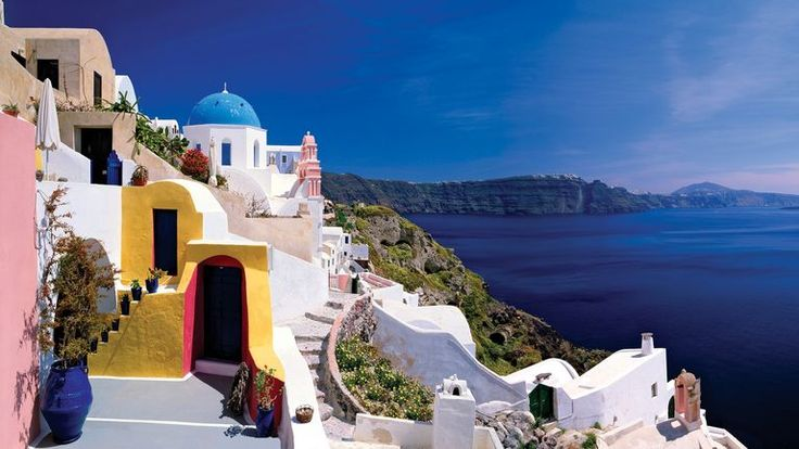 Greek Islands Vacation | Greek Islands Tours - Go Ahead Tours  this looks like a way to do this...