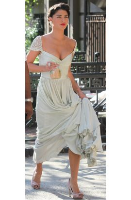 Vanessa Hudgens Long Evening Wedding Dress Gossip Girl Season 3 - TheCelebrityDresses