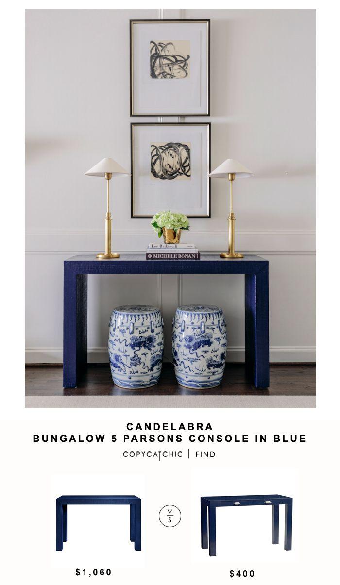 Bungalow 5 Parsons Console in Blue