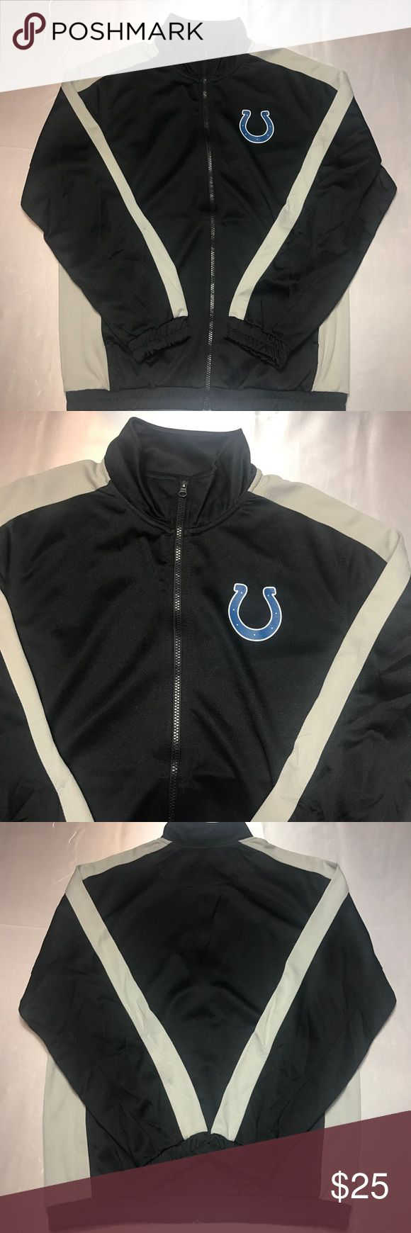 Indianapolis Colts Full Zip Jacket Men's Indianapolis Colts Full Zip Jacket. Size Medium. Very good condition, no flaws. Purchased from NFL online store. Clean!! NFL Jackets & Coats