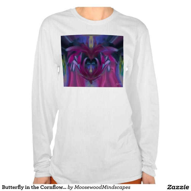 Butterfly in the Cornflowers No 3 T-Shirt