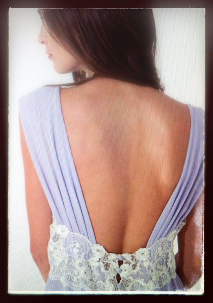 Flora Lastraioli luxury lingerie, nightgown lavander ...