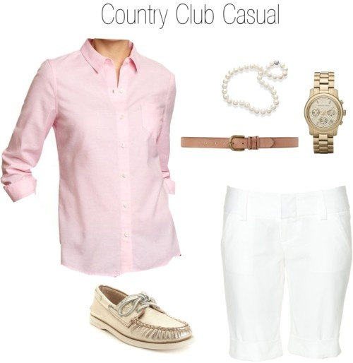 For Work In The Summer Country Club Casual