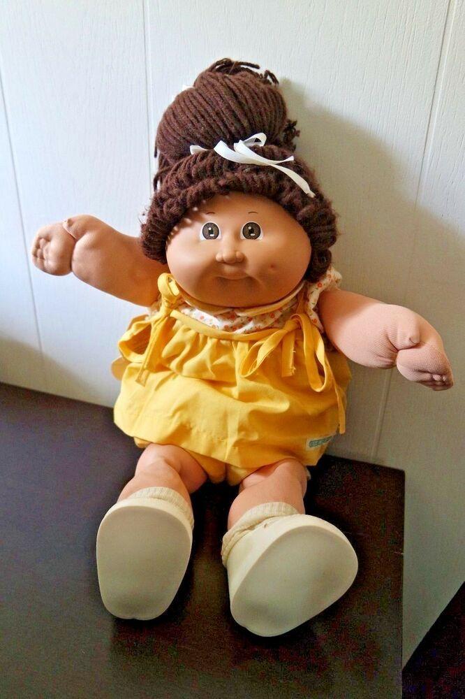 Vintage Cabbage Patch Doll 1980s Original Clothes And Tag Vintage Cabbage Patch Dolls Black Cabbage Patch Doll Cabbage Patch Kids Dolls