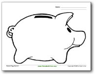Piggy Bank Coloring Pages And Coloring On Pinterest