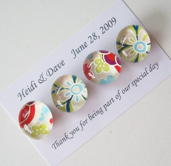 Custom Wedding Favor Box 4 magnets per pack by tannerglass on Etsy, $115.00