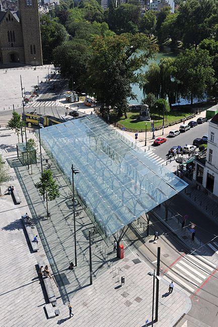 Place flagey by latz partner 08 serge brison for Place landscape architecture