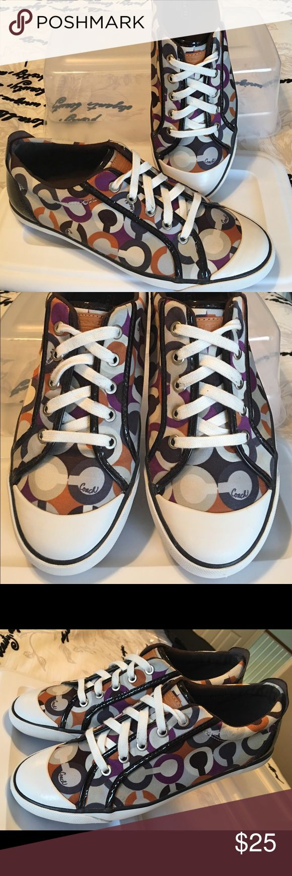 Coach Tennis shoes Great condition! Very comfy and lots of wear left as they were gently used. They also come from a smoke free home :) Coach Shoes Sneakers