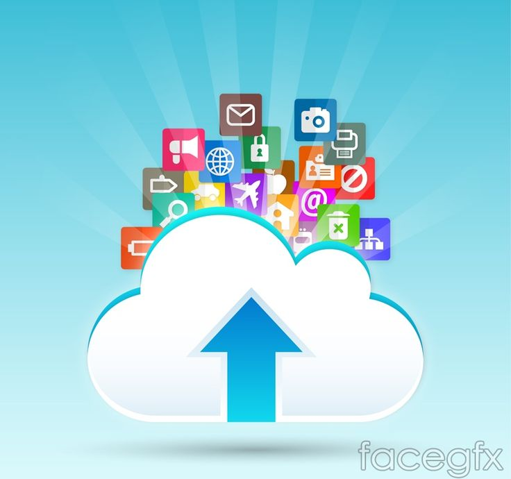 Cloud storage vector illustration