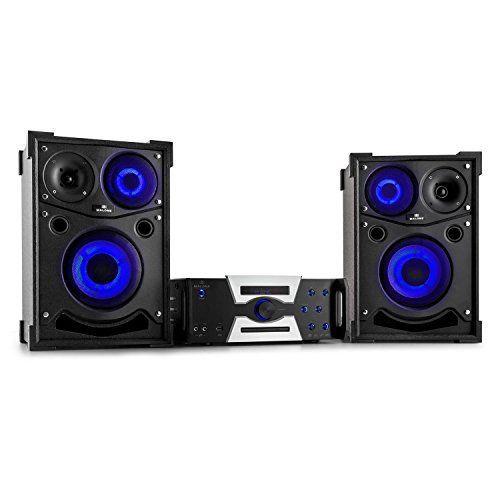 Malone Hotrod 2000 Système audio (enceintes subwoofer de 25cm, technologie Classe-B, lecteur DVD/CD, Bluetooth, HDMI, USB, MP3, sous-titres)