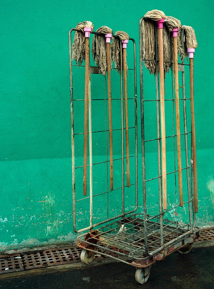 Michael Wolf captures abstract, accidental sculptures in Hong Kong alleyways.