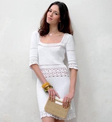 Modèle robe crochet 100% coton - Modèles tricot femme - Phildar