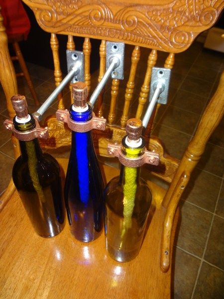 31 best images about tiki torches on pinterest copper for Diy beer bottle tiki torches