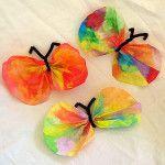 Lavoretti per la primavera: farfalle con filtri del caffè  SITO ++++