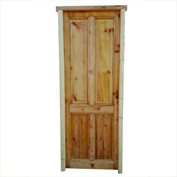 Puerta cod 2894 puerta tablero interior de madera pino - Puertas de dos hojas ...