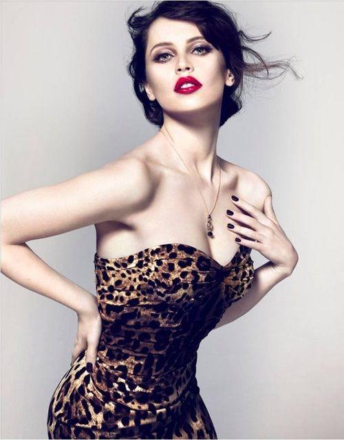 Stunning in Leopard ~Felicity Jones the Face for Dolce & Gabbana Beauty.  Harper's BAZAAR Magazine