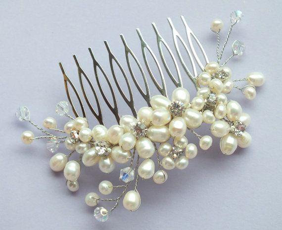 DIY Beaded Hair Comb Tutorial?? :  wedding hair comb tutorial Comb2