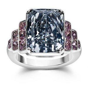 natural blue and pink diamond ring -- natural color diamond association so beautiful