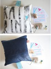 cushion made and customized by POMPOM