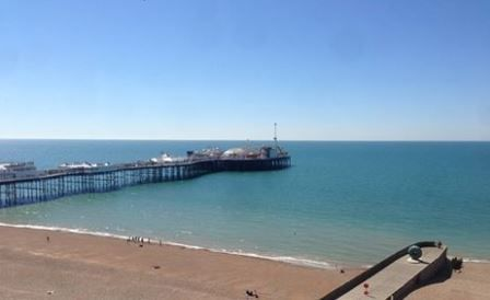 I wouldn't mind waking up to this view! #Brighton #Sea #Seaside